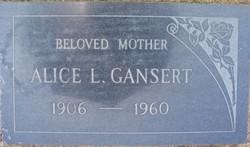 Alice Lillian <i>STEEN</i> GANSERT