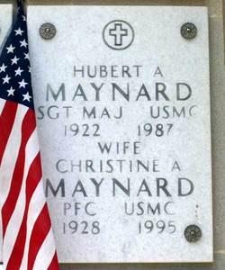 PFC Christine Agnus Chris <i>Clunie</i> Maynard