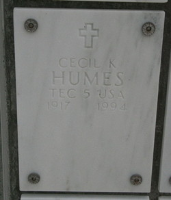 Cecil K Humes
