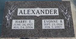 Evonne B Alexander