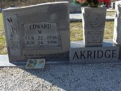 Edward W Akridge
