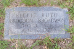Billie Ruth <i>Brogdon</i> Broadway