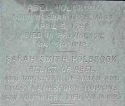 Sarah Smith <i>Hopkins</i> Holbrook