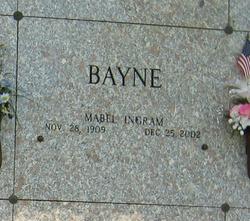 Mabel E <i>Ingram</i> Bayne
