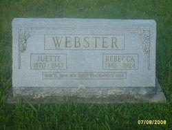 Rebecca <i>Barentine</i> Webster