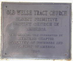 Old Welsh Tract Baptist Church Cemetery