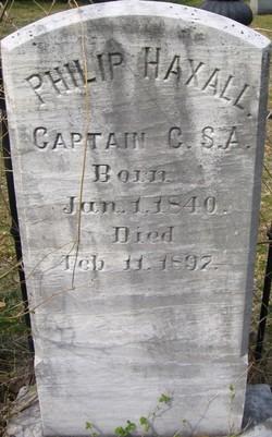 Capt Philip Haxall