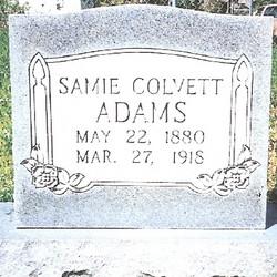 Samie Lee <i>Colvett</i> Adams