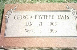 Georgia Edythee Davis
