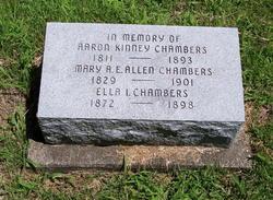 Mary A. E. <i>Allen</i> Chambers