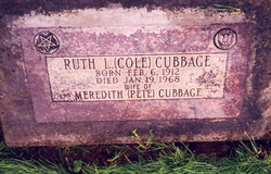 Ruth Lena <i>Cole</i> Cubbage