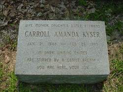 Carroll Amanda Kyser