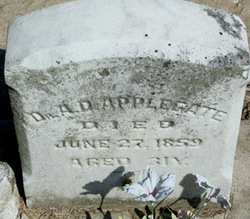 Dr Alfred D Applegate
