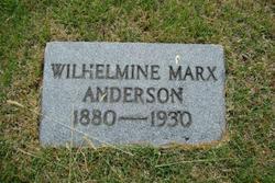 Wilhelmine <i>Marx</i> Anderson
