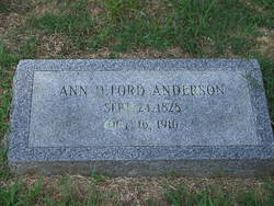Ann D. <i>Ford</i> Anderson