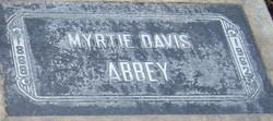 Myrtie May <i>Davis</i> Abbey