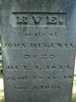 Eve <i>Johnson</i> Hegeman