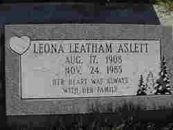 Leona <i>Leatham</i> Aslett