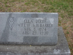 Ella <i>Dixon</i> Barker