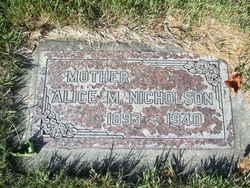 Alice <i>McNicholl</i> Nicholson