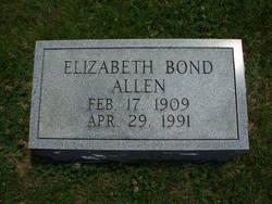 Elizabeth <i>Bond</i> Allen