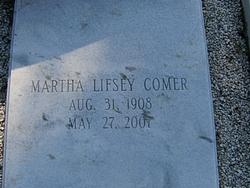 Martha <i>Lifsey</i> Comer