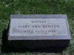 Mary Ann <i>Hughes</i> Benson
