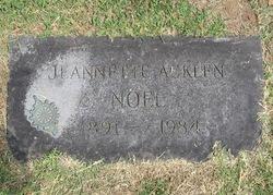 Jeannette Tillotson <i>Acklen</i> Noel