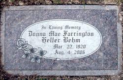 Donna Mae <i>Farrington</i> Behm