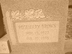Rosemary <i>Brown</i> Adams
