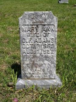 Mary Ann Elizabeth <i>Butts</i> Adams