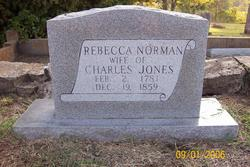 Rebecca <i>Norman</i> Jones