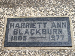 Harriett Ann Hattie <i>Winkenhoffer</i> Blackburn