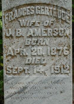 Frances Gertrude Amerson