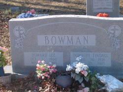 Dorothy Elizabeth <i>Tindall</i> Bowman