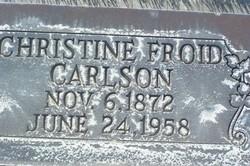 Christine Louise <i>Froid</i> Carlson