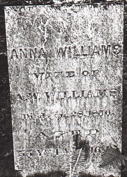 Anna Maria <i>VanDyke</i> Williams