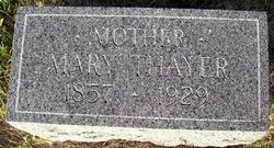 Mary <i>Nisley</i> Thayer