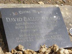 Lieut David Balloch Greig