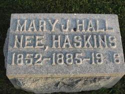 Mary J. <i>Haskins</i> Hall