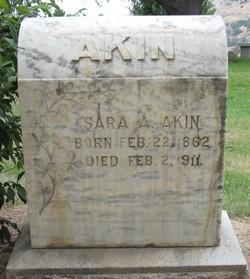 Sarah A. <i>Hudson</i> Akin