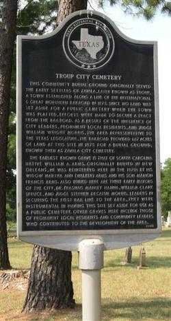 Troup City Cemetery
