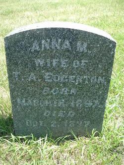 Anna M. <i>Parks</i> Edgerton