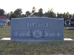 Frances M. <i>Baker</i> Clanton