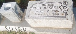 Ruby <i>Respess</i> Sharp