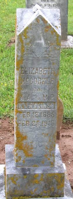 Elizabeth McCorkle Alexander