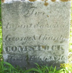 Infant daughter Comstock