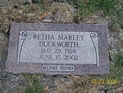 Retha <i>Marley</i> Duckworth