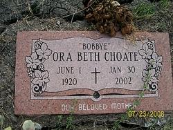 Ora Beth Bobbye <i>Davis</i> Choate