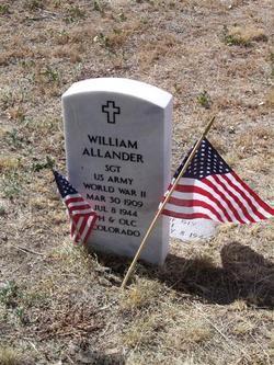 Sgt William Allander